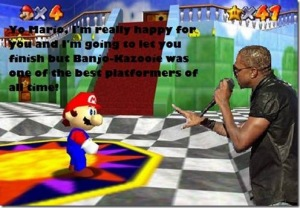 mario and kanye west spoof