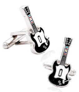 video games guitar cufflinks