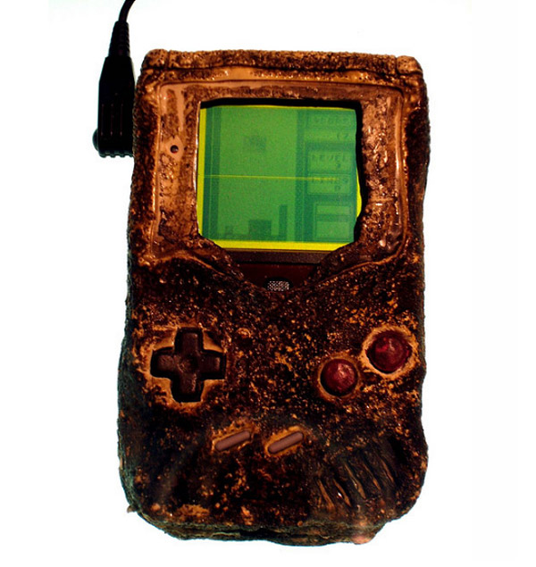 melted nintendo game boy from gulf war