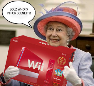 queen elizabeth: loving the wii