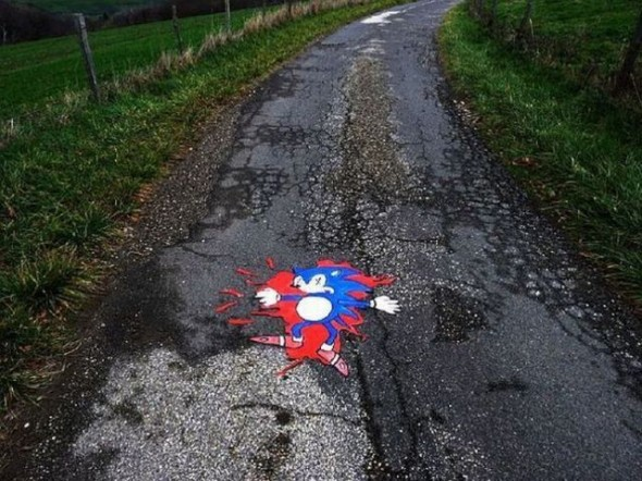 sonic the hedgehog roadkill